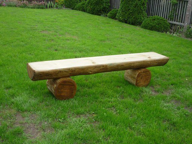 Ławki z bali drewnianych